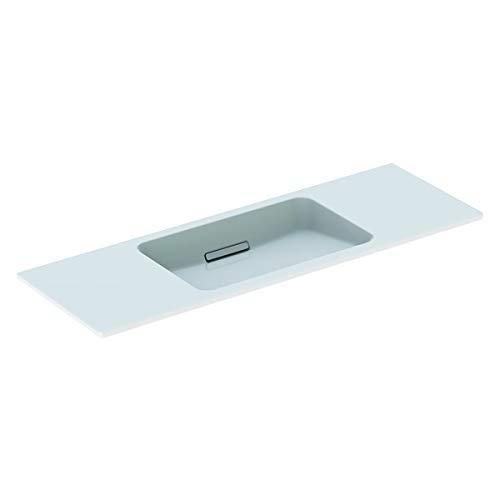 Geberit One wastafel zwevend ontwerp 500392, zonder kraangat, met overloop, 1200x400mm, Kleur: Wit glanzend - 500.392.01.3