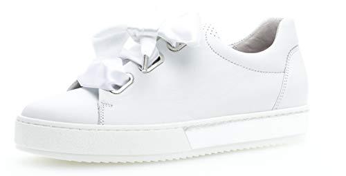 Gabor 26.505 Damen Sneaker,Skater Sneaker, Frauen,Sportschuh,Low-Top,Comfort-Mehrweite,Optifit- Wechselfußbett,Weiss,7.5 UK