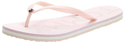 Tommy Hilfiger Tommy Footbed Flat Beach Sandal, Sandalias con Punta Abierta Mujer, Rosa (Pale Pink Tap), 40 EU