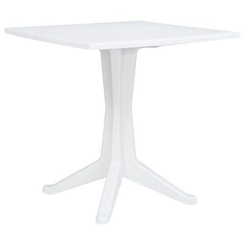 vidaXL Gartentisch Weiß Kunststoff Balkontisch Terassentisch Bistrotisch Tisch