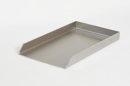 410 x 230 mm Edelstahl V2A Plancha Grillplatte Grillpfanne I Massiv 4,0mm I 41x23 cm I Gasgrill I Burgerplatte
