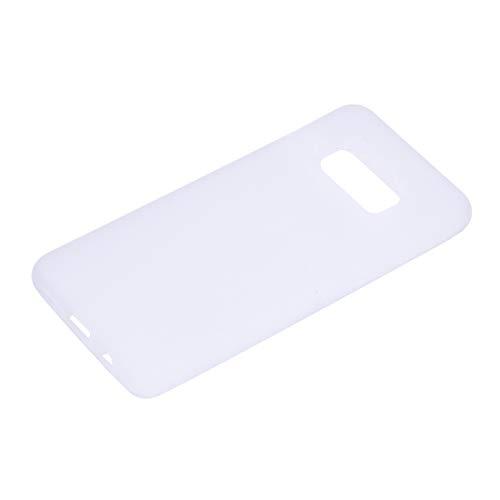 Funda para Samsung Galaxy S10e SM-G970F blanco TPU flexible suave ultra fina antiarañazos HD Case funda compatible Smartphone