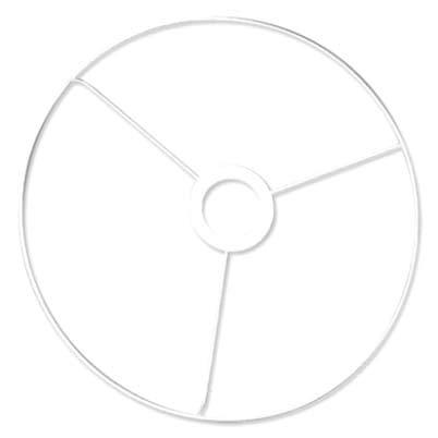 Rayher 2300100 Ring mit Kreuz, 30 cm ø, weiß beschichtet