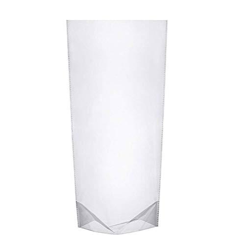 WOWOSS 100 Pezzi Sacchetti Trasparente, 14*7.6*28cm Bustine Trasparenti per Pane, Caramello, Biscotti e Alimentari, Sacchetti Trasparente Plastica OPP