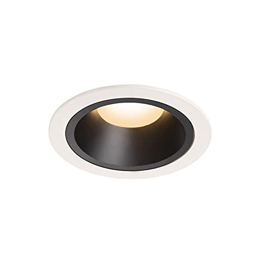 SLV Numinos DL L-Foco LED empotrable para Techo, IP20/IP44, 2700 K, 25,41 W, 2150 LM, Color Blanco 40 Grados