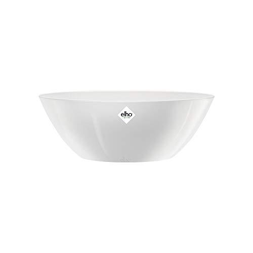 Elho Brussels Diamond Oval 46 - Blumentopf für Innen - Ø 45.4 x H 16.6 - Weiss