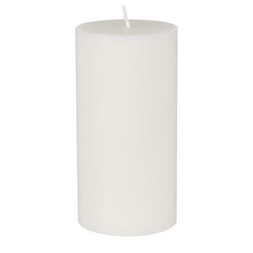 8 Stumpenkerzen Ø 70mm 150mm weiß aus 100% Stearin durchgefärbt