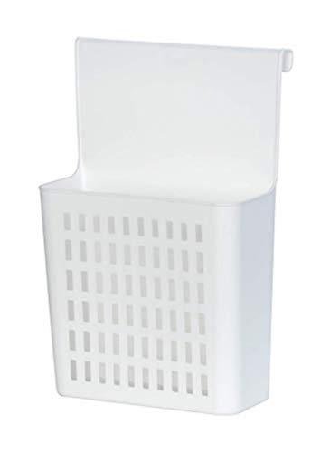 WENKO Panier de rangement - Étagère de cuisine à suspendre, Polypropylène, 24 x 35.5 x 12 cm, Blanc