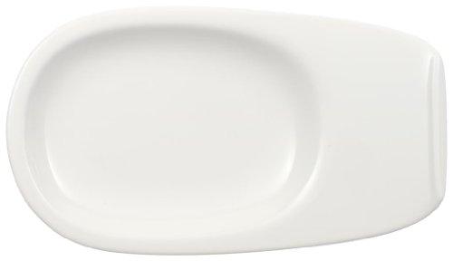 Villeroy & Boch Urban Nature Brotteller, 21x12 cm, Premium Porzellan, Weiß