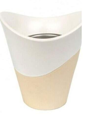 YANKEE CANDLE 1533242 Bruciatore Elettrico Scenterpiece Meltcup, Ceramica, Bianco, 21.2x23.5x22.6 cm