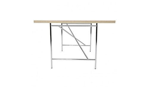 Kinderschreibtisch Schreibtisch 120 x 70 cm Eiermann Tischplatte weiß Gestell silber von Richard Lampert