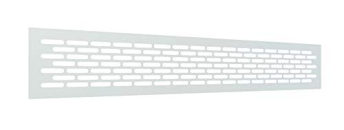Rejilla Ventilacion Rectangular 80 X 480 mm Rejilla Ventilacion Horno Rejillas de Ventilacion Aluminio Rejillas para Chimeneas Rejilla Ventilacion Blanca (1 Pieza)