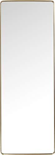 Kare Design Spiegel Curve Rectangular Messing, moderner Wandspiegel, edler Badspiegel, großer rechteckiger Schminkspiegel, (H/B/T) 200x70x5cm