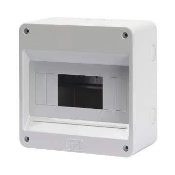 Gewiss Centralino Protetto Senza Porta Pareti con centrini di foratura predisposto per alloggiamento morsettiere IP40 (GW40026-8 Moduli)