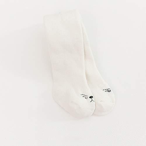 SanQing LOVE Tight Hiver Doux Épaississants Filles Collant Collants en Tricot pour bébé Leggings Couleurs Chaudes Chaussettes Longues Pantalons bébé Convient pour 0-6 Ans Filles,Blanc,L