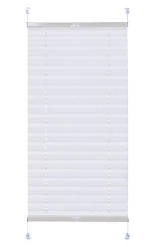Domdeco Thermo-Plissee Weiß 50x220cm mit weißen Alu-Profilen, Klemm-Fix Halterung ohne Bohren