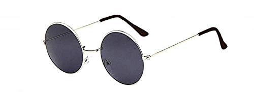 KIRALOVE Occhiali da sole specchio rotondi donna - uomo - retro - montatura metallo - colore oro - lente blu - uv 400 polarizzati - primavera - autunno - inverno - estate