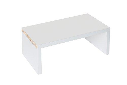 New Swedish Design IKEA Kallax Expedit Regal DVD Bluray Buch Einsatz Fachteiler 44 DVDs Blurays Bücher - CD-Regal DVD-Storage Aufbewahrung Regaleinsatz Stufe Treppe 33,5 x 12,6 x 16,5 cm Weiß