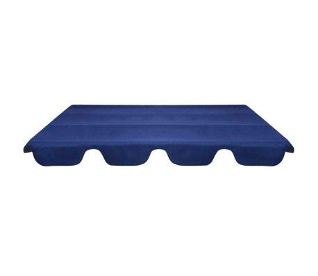 Ersatzdach Hollywoodschaukel Dach Schaukel Sonnendach Schaukeldach Blau 249 x 185 cm