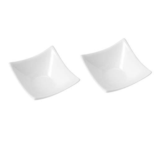 UPKOCH 2 weiße Keramik-Dipschalen Soja-Schalen Servierschalen Gewürzschalen Sushi Soja-Schalen m weiß 2