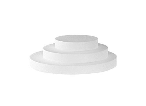 Poliart Cake Mania Base per Torta Tonda in polistirolo Circolare h 2,5 (35 cm)