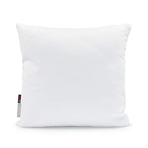 Premium 28x28 White Cotton Feel Microfiber Square Sham Euro Sofa Bed Couch Decorative Pillow Insert Form Fill Stuffer Cushion Made in USA for Pillow Cover or Case