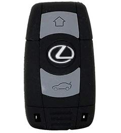 USB 16GB-32GB Modelos Varios (USB519 16GB Goma Llave Coche Lexus)