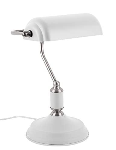 Present time - Lampe à poser antique fer blanc et chromé BANK