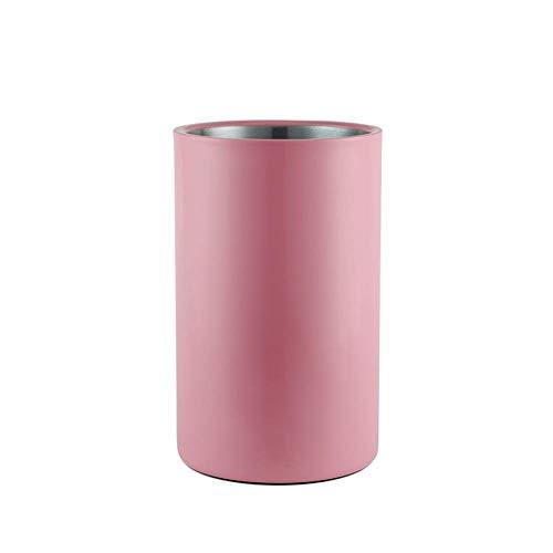 Außen Eiskübel Edelstahl Insulated Eiskübel/Bar Champagner Eimer/Wein Eiskübel, for Partys, Hochzeiten oder Familien Bars Berufsmetall Barware (Farbe: Schwarz) Huangwei7210 (Color : Pink)