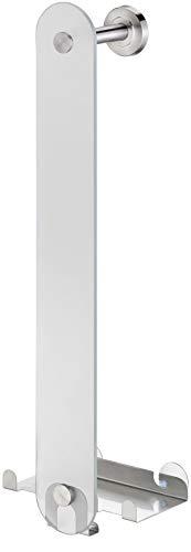 Golden Lutz® Badetuchhalter Glas-Handtuchhalter, Aufbewahrung für bis zu 8 Handtücher - Kleben oder Schrauben -