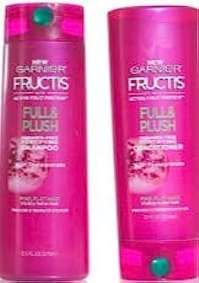 Garnier Fructis Full & Plush - Paraben-Free Fortifying Shampoo & Conditioner Set - Net Wt. 12.5 FL OZ (Shampoo) & Net Wt. ...