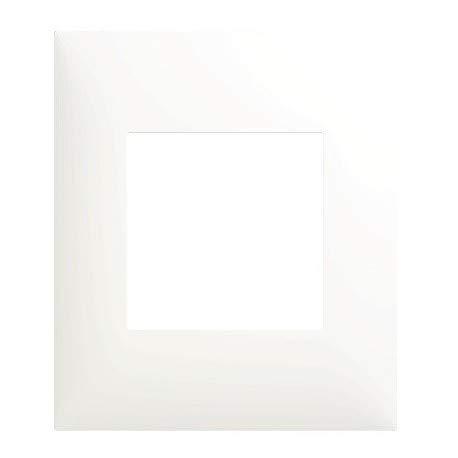 Plaque décor blanche 1 Poste Espace Evolution Arnould