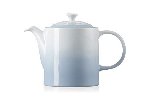 Le Creuset Klassische Teekanne, Rund, 1,3 Liter, Steinzeug, Coastal Blue