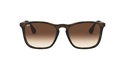 Óculos de Sol Ray Ban Chris Rb4187l 856-13/54 Tartaruga - Lente Marrom Degradê