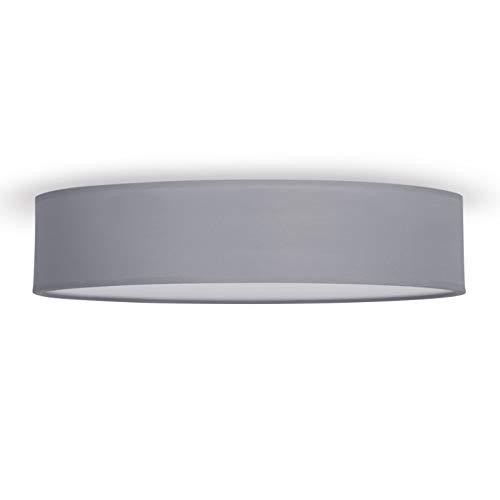 Smartwares IDE-60036 Deckenleuchte/ Textilschirm, 50 cm Ø, 4x E27, grau