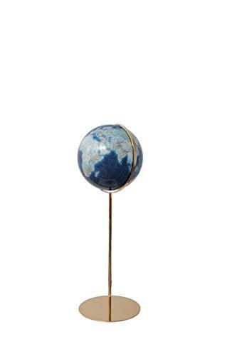 Columbus DUO AZZURRO Leuchtglobus Standmodell: TING-fähig, handkaschiertes Kartenbild auf Acrylglaskugel, Kugeldurchmesser 40 cm, Armatur aus Messing