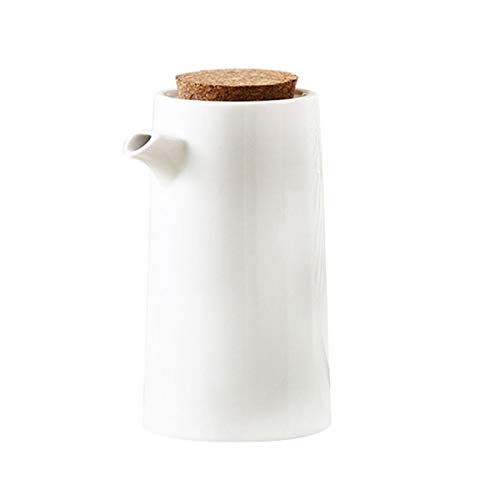 Salsera Cocina de porcelana Cocinar botella de aceite Herramientas Botellas de almacenamiento de aceite de oliva Especias bote de salsa de soja vinagre de condimento de la lata Para hoteles familiares