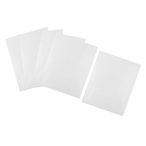 dailymall 5er ABS Blätter Kunststoff Platten Zum Modellbau Basteln DIY Modell Material - Weiß, 200x250x0,5mm
