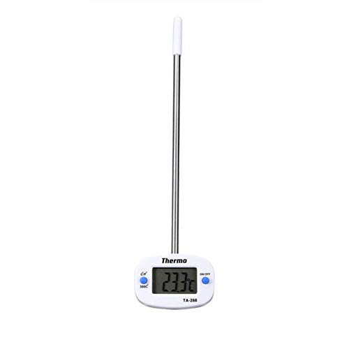 Subobo Termómetro De CocinaTermómetro De Cocina De Barbacoa De Termómetro De Sonda De Alimentos Digital InoxidableCocción con Termómetro