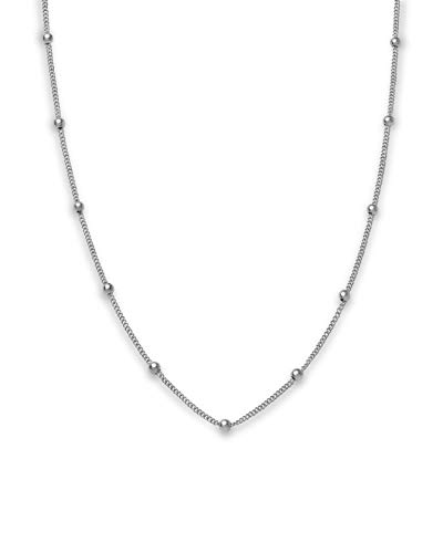 Rosefield Iggy Zilverkleurige Dotted Ketting JDCHS-J059 Verstelbaar: 40.00-44.00 cm