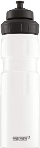 SIGG WMB Sports White Touch Sport Trinkflasche (0.75 L), schadstofffreie und auslaufsichere Trinkflasche, federleichte Trinkflasche aus Aluminium
