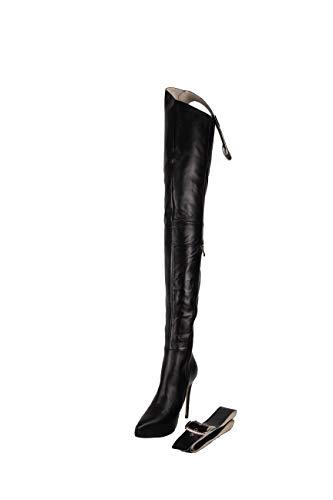 AROLLO Damen Chap Boots Echtleder Overknee Stiefel (39)