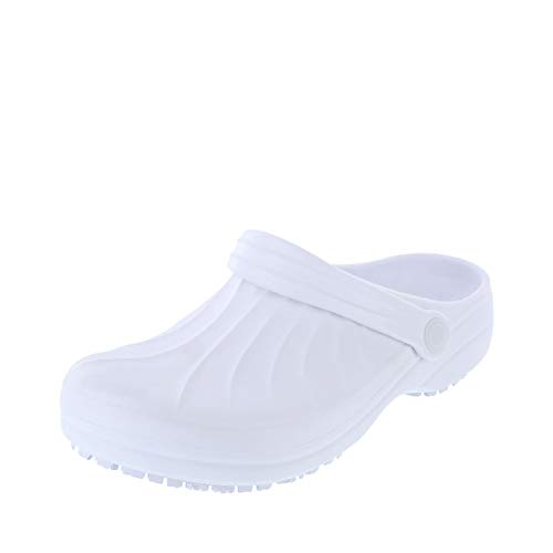 safeTstep White Women's Slip-Resistant Complete Clog 10 Regular