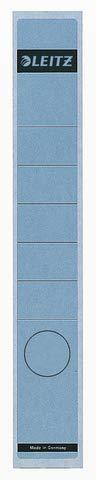 Leitz Rckenschilder selbstklebend, Papier, lang, schmal, 10 Stck, blau