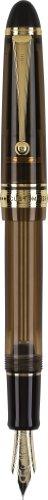 PILOT Custom 823 Fountain Pen, Amber Barrel, Broad Nib, Blue Ink (60563)