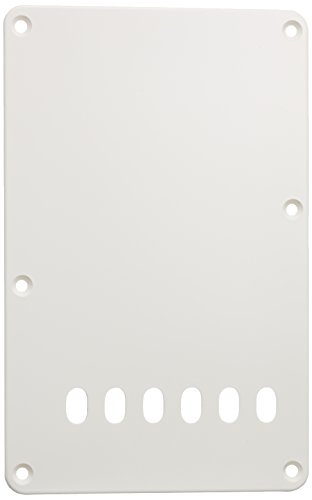 SCUD バックプレート、トレモロ用、11.2mmピッチ ホワイト P-105W