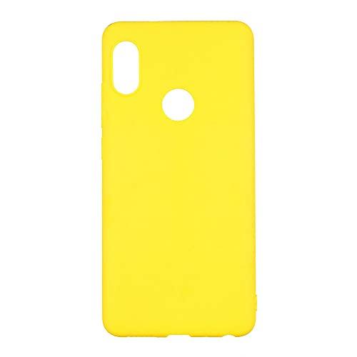 para Xiaomi Redmi Note 7 10 8T 8 Pro 6 5 Plus 4 4X 5A 6A Funda de Silicona Suave para Rojo mi Note8 8A Note 5 7A 9A 9C 9T 9S 9 Pro, Amarillo, para Redmi 7a