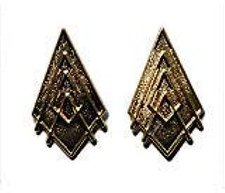 Battlestar Galactica Captain Gold Collar Rank Pip Set of 2