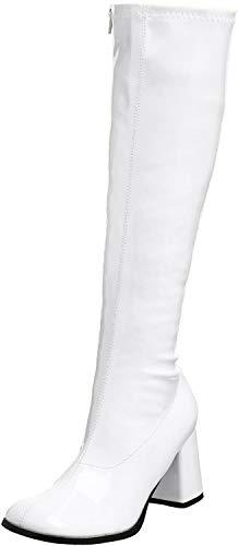 Pleaser Gogo300/yl, Damen Stiefel, Weiß (Wht Str Pu), 41 EU