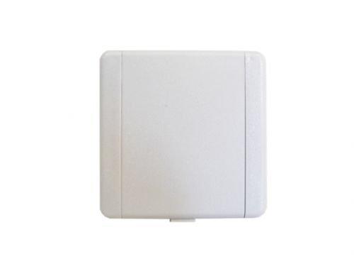 Saugdose quadratisch VacuValve ES Farbe Weiss, Zentralstaubsauger Steckdose, 90x90mm, 2 Kontaktstifte, Öffnung 36-38mm